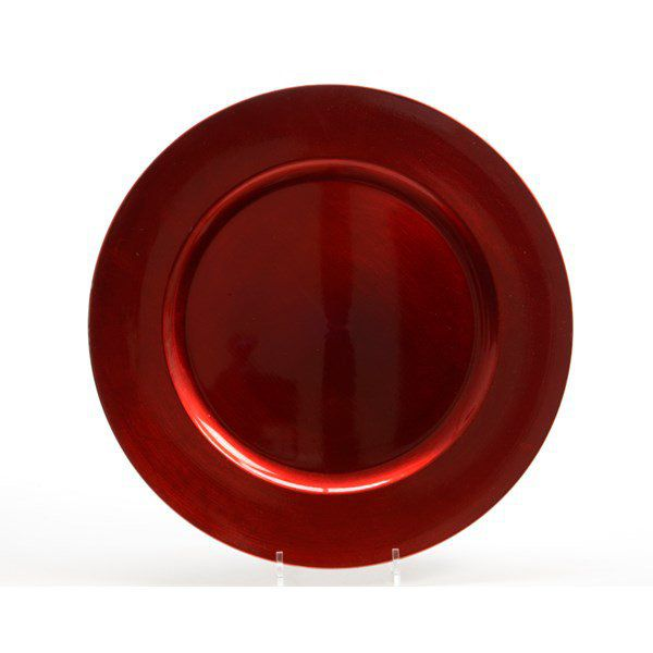 Plato decorativo rojo