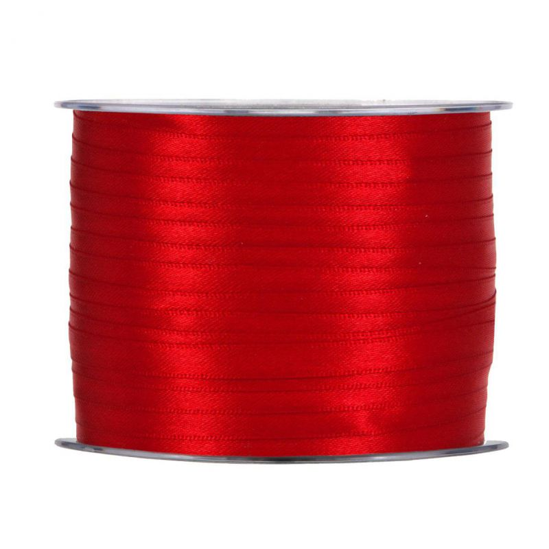 Cinta raso mm3x100mt rojo