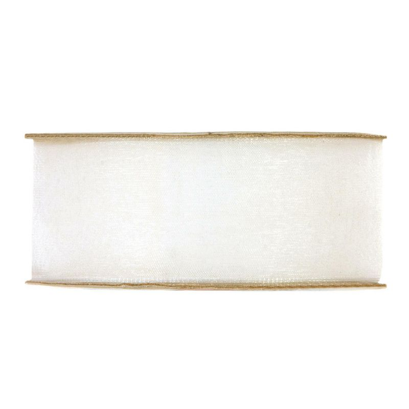 Organza brillante mm40x50mt light cream