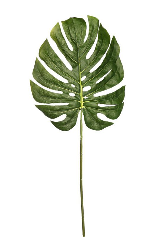 HOJA DE MONSTERA ARTIFICIAL 80 CM tacto natural