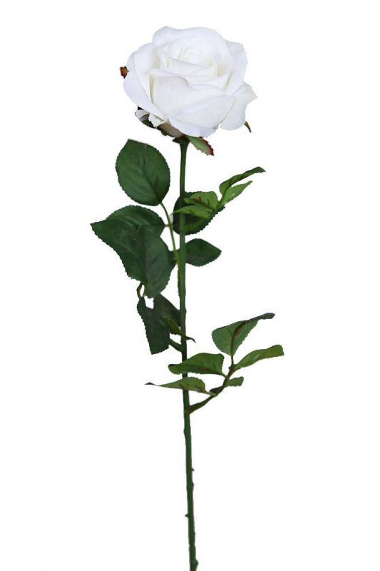 VARA ROSA ARTIFICIAL 70CM BLANCO