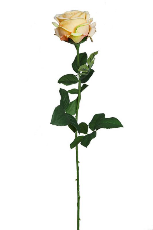 VARA ROSA ARTIFICIAL 70CM AMARILLO