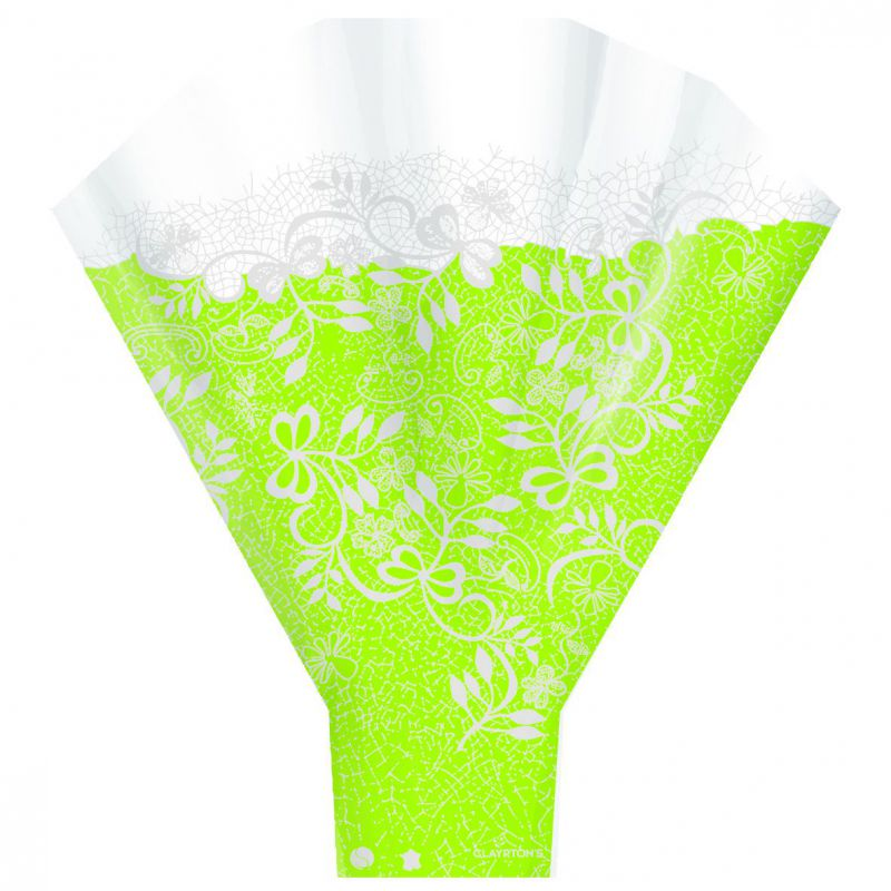 Cono bouquet COUTURE. Color: verde (paquetes de 50 ud)