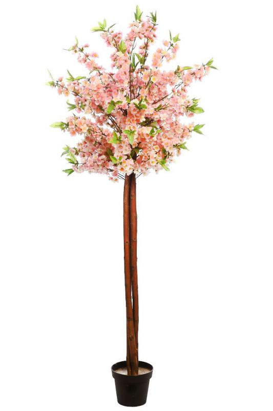 ARBOL DE ALMENDRO ARTIFICIAL 180CM alto 60CM ancho, color rosa
