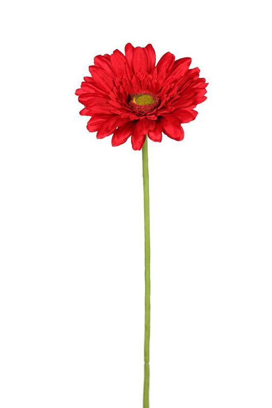 GERBERA TALLO FLOCADO 64CM ALT COLOR ROJO