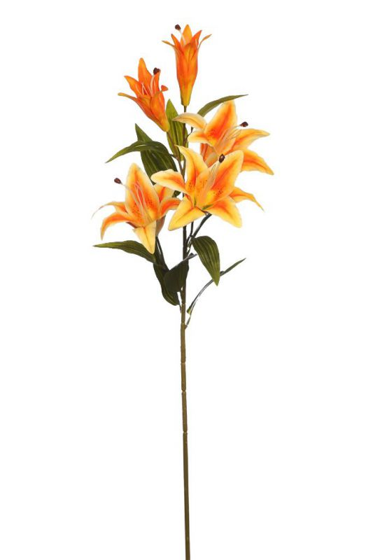 VARA DE LILIUM ARTIFICIAL 95CM color naranja