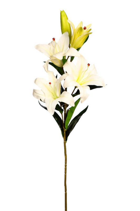 VARA DE LILIUM ARTIFICIAL 98CM color blanco