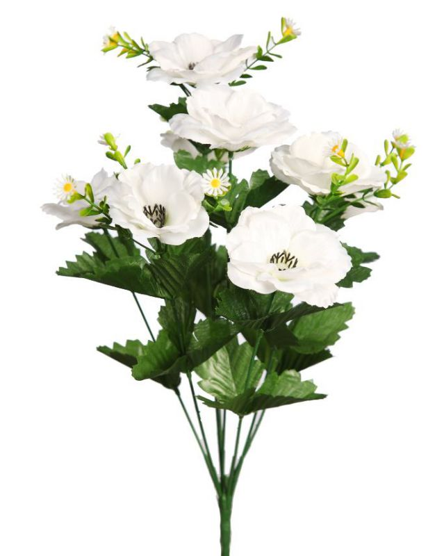 BOUQUET COSMOS ARTIFICIAL 40CM COLOR CREMA