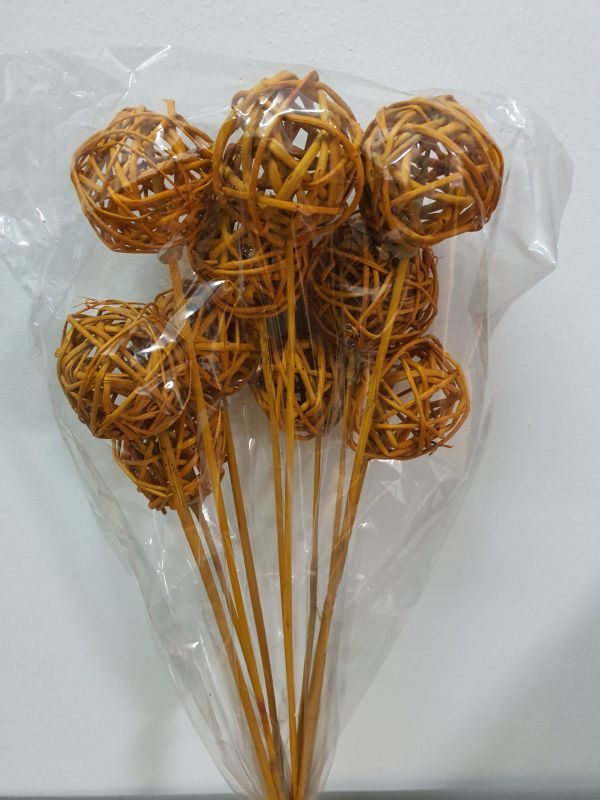 Branch Ball Ø5 cm. 10 pcs. box 6/10 COLOR AMARILLO OSCURO