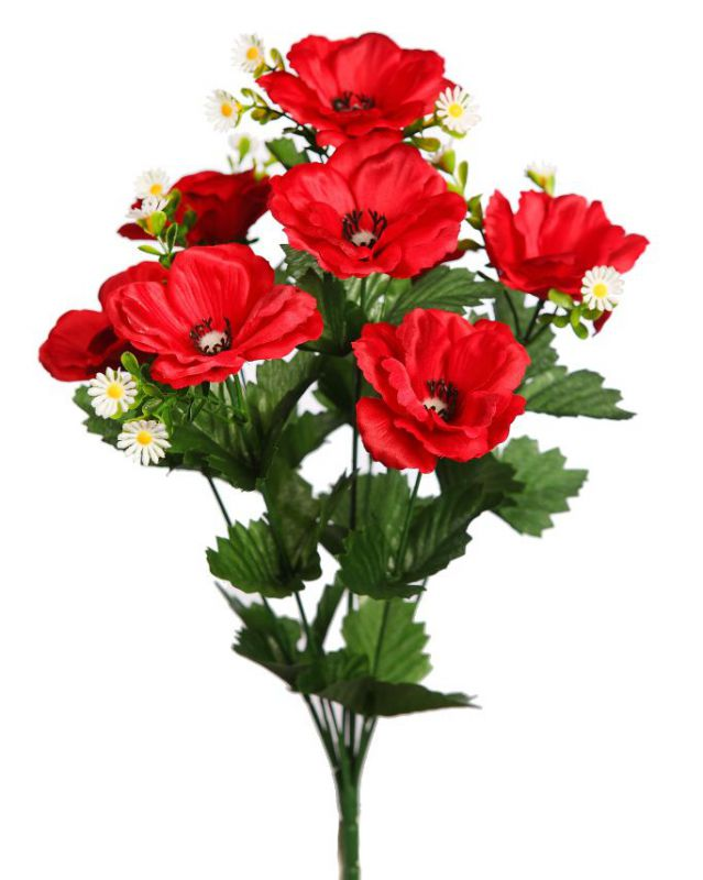 BOUQUET COSMOS ARTIFICIAL 40CM COLOR ROJO
