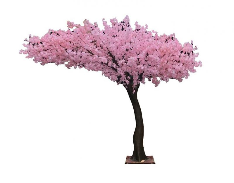 ARBOL ALMENDRO CEREZO ARTIFICIAL ALT 250CM ANCHO 280CM BASE METAL
