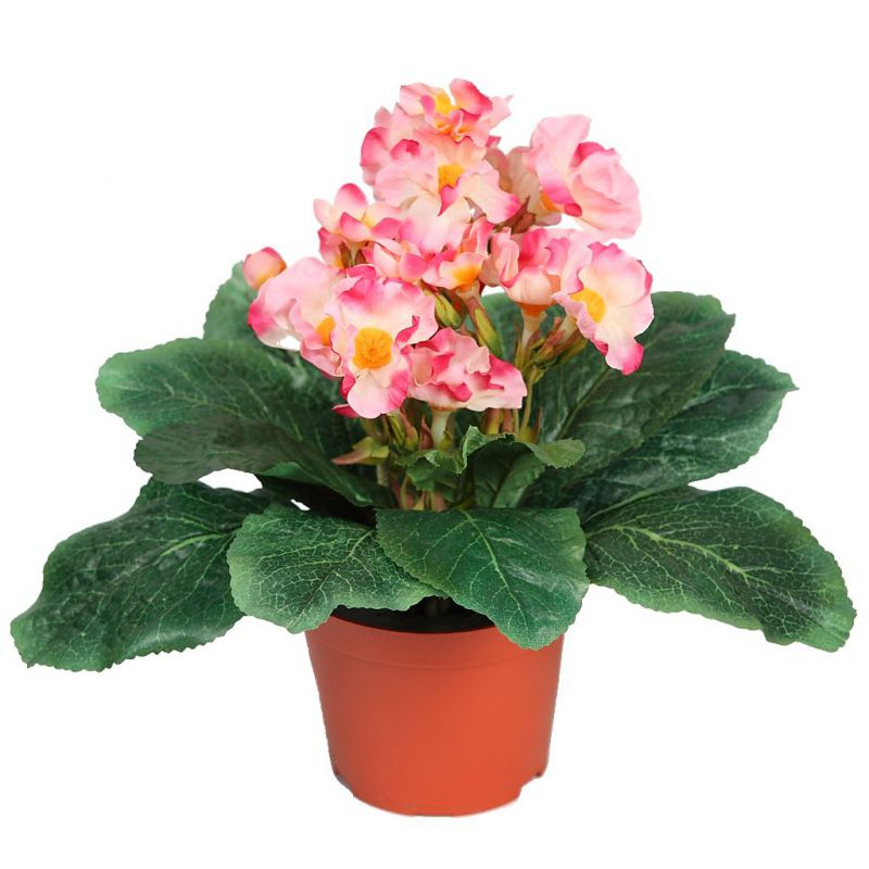 MACETA DE PRIMULA ARTIFICIAL 28CM