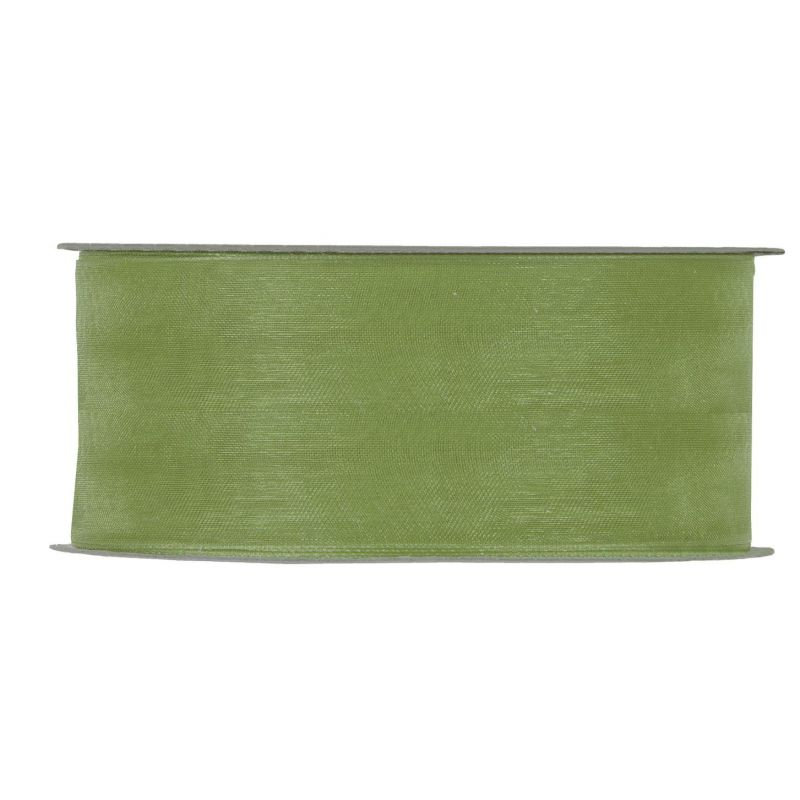 ORGANZA BRILLANTE MM40X50MT OLIVE GREEN