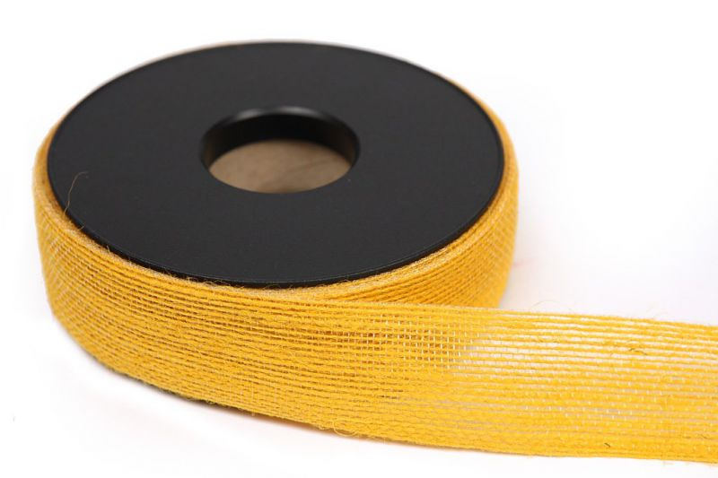 CINTA JUTE COLORES 40MM LARGO 20M AMARILLO
