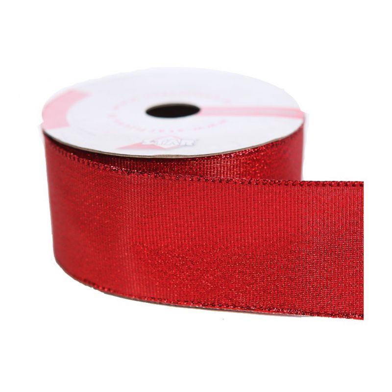 ROLLO CINTA BRILLO 38MM ROJO