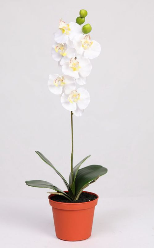 MACETA ORQUIDEA ARTIFICIAL DE SATEN 43 CM