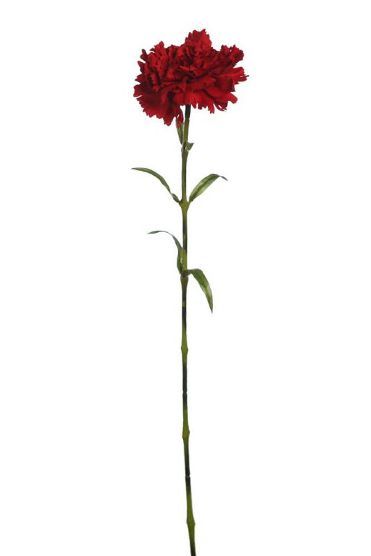 Vara de clavel artificial 68cm color rojo